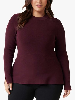 Forever New Curve Cleo Jumper, Berry