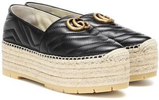 Gucci Double G leather espadrilles