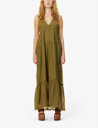 Free People Frankie pleated woven maxi dress