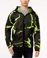 G Star Men's Strett Neon Camouflage Hooded Jacket