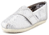 Toms Solid Silver Glitter Slip-On, Tiny