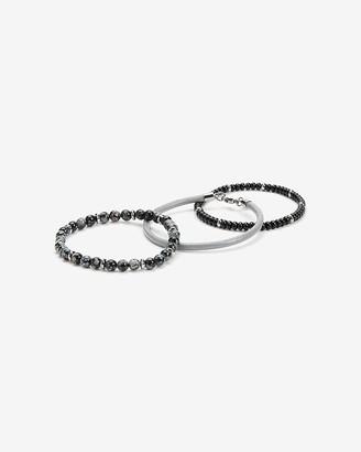 Express 3 Pack Black Bracelets