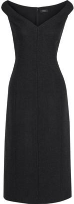 Theory Brushed Wool-twill Midi Dress