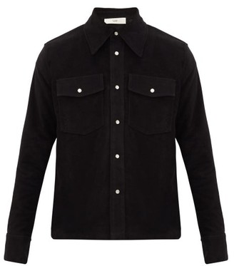 Séfr Matsy Cotton-flannel Overshirt - Black