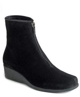 La Canadienne Sharlina Faux Fur Waterproof Wedge Ankle Boots