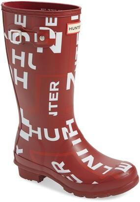 Hunter Original Exploded Logo Waterproof Rain Boot
