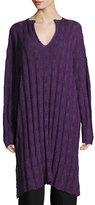 eskandar Long Split-Neck Sweater