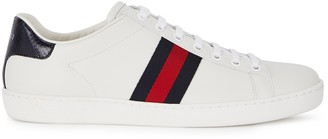 Gucci New Ace Off-white Leather Trainers
