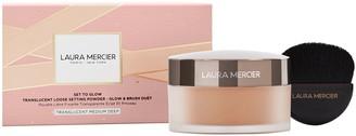 Laura Mercier Set To Glow Translucent Loose Setting Powder Glow & Brush Set