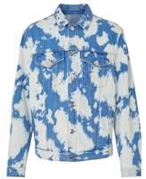 Burberry Monogram Motif Bleached Denim Jacket