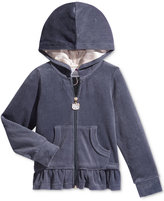 Hello Kitty Embroidered Hoodie, Toddler & Little Girls (2T-6X)