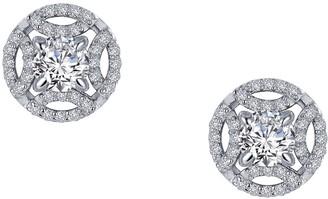 Lafonn Simulated Diamond Button Earrings