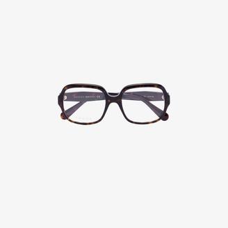 Gucci brown Havana square optical glasses