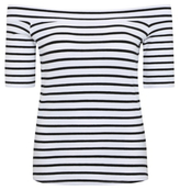 George Stripe Print Bardot Top