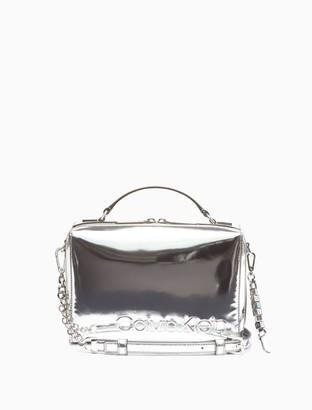 Calvin Klein Box Metallic Nylon Mini Crossbody Bag