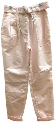 Maje Pink Cloth Trousers for Women