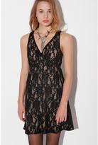 Pins and Needles Lace Surplice Dress