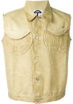 Telfar sleeveless denim jacket
