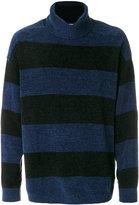 Miharayasuhiro striped roll neck jumper