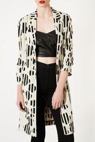 Topshop Daisy Print Side Split Coat