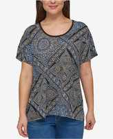 Tommy Hilfiger Plus Size Printed Scoop-Neck Top