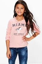 Boohoo Girls Slash Neck Sweat Top
