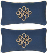 Miles Talbott Collection S/2 Glynn 12x23 Pillows, Indigo
