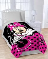 Disney Disney's Minnie Dots are the New Black Throw Blanket