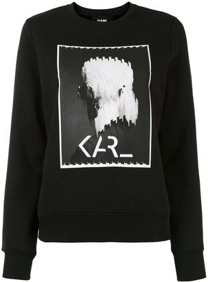 Karl Lagerfeld Paris Legend print sweatshirt