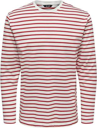 ONLY & SONS Heavy Striped Cotton Tee