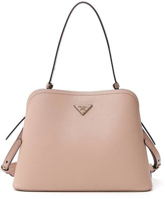 Prada Logo Top Handle Shoulder Bag