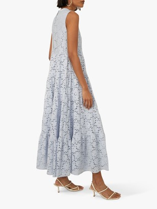 Warehouse Lace Tiered Maxi Dress