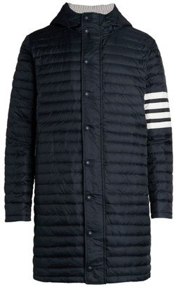 Thom Browne Four-Bar Stripe Quilted Down Coat