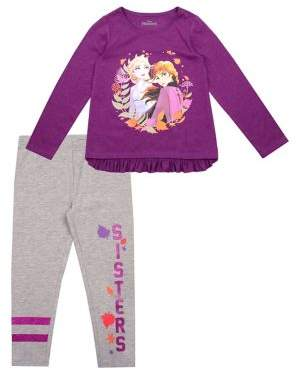 Nannette Little Girl's Frozen 2 Elsa & Anna Top & Pants Set