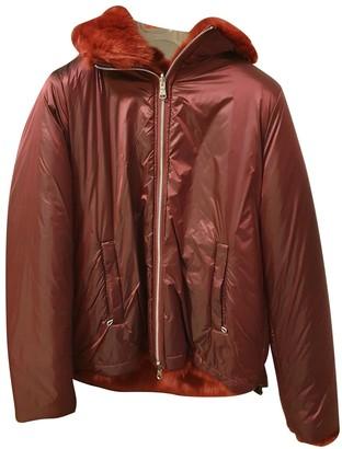 Colmar Burgundy Faux fur Jacket for Women