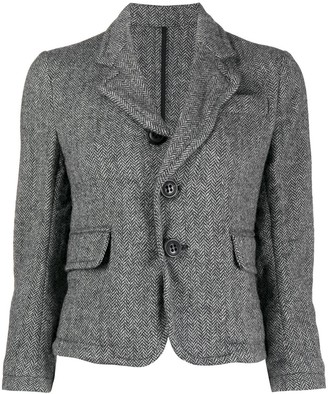 DSQUARED2 Cropped Herringbone Check Blazer