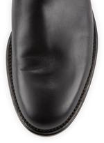 Valentino Rockstud Lock Flat Knee Boot, Black