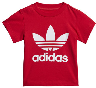 adidas TREFOIL TEE girls's T shirt in Red