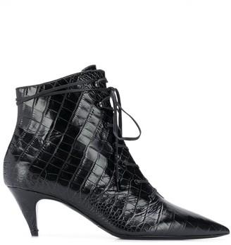Saint Laurent Kiki lace-up boots