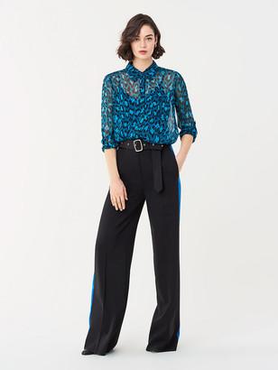 Diane von Furstenberg Lorelei Two Silk Chiffon Shirt