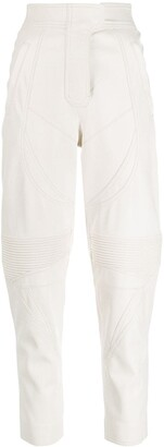 Stella McCartney Leather-Effect High-Waisted Trousers