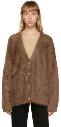 Totême SSENSE Exclusive Tan Alpaca Biella Cardigan