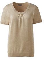 Classic Women's Regular Cotton Modal Cap Sleeve Sweater-True Navy Heather