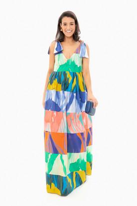 Odeeh Multicolor Watercolor Maxi Dress