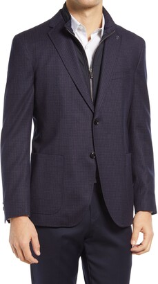 Ted Baker Tucker Check Stretch Wool Sport Coat