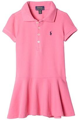 Polo Ralph Lauren Kids Girl's Short-Sleeve Polo Dress (Toddler) (Baja Pink) Girl's Clothing