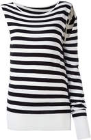 MM6 MAISON MARGIELA asymmetric striped sweatshirt