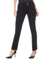 Style&Co. Style & Co Style & Co Petite Slim-Leg Tummy-Control Pants, Created for Macy's