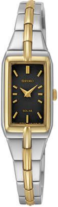 Seiko Women Solar Two-Tone Stainless Steel Bracelet Watch 15mm SUP274