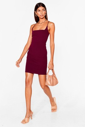 Nasty Gal Womens Red Mini Dress with Square Neckline - Plum